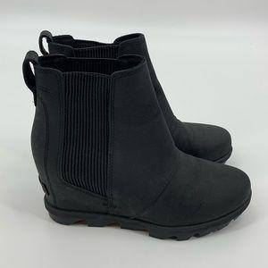 Sorel Black Joan of Arctic Wedge ll Chelsea Boot
